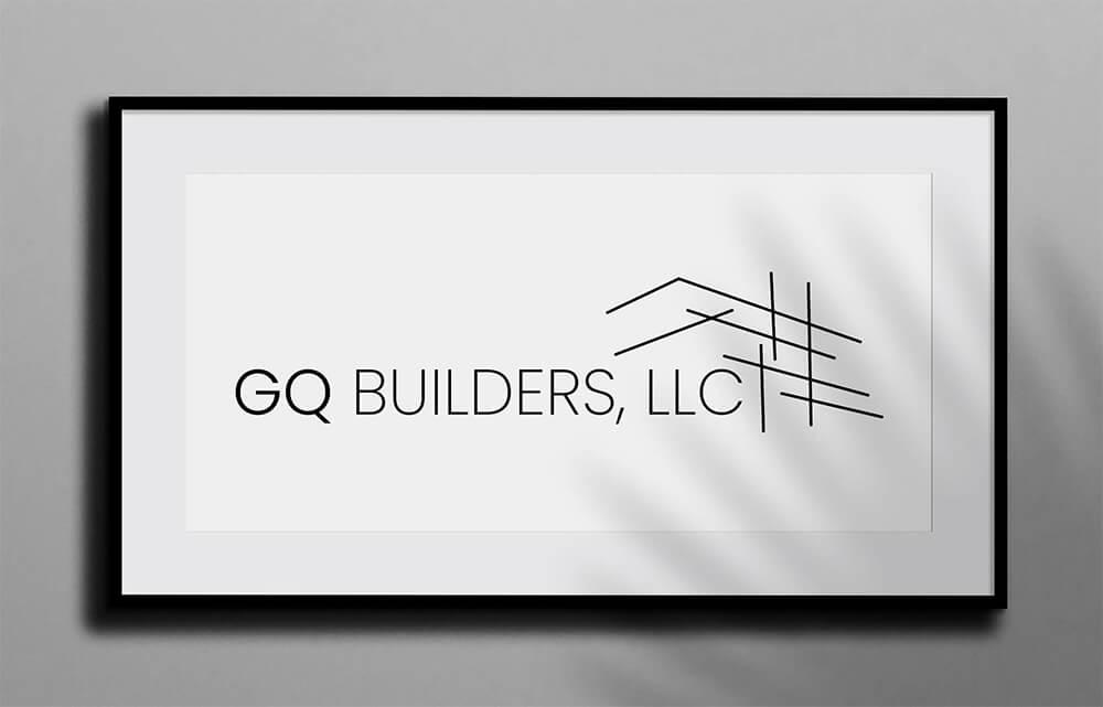 GQ Builders LLC Logo Framed On A Wall