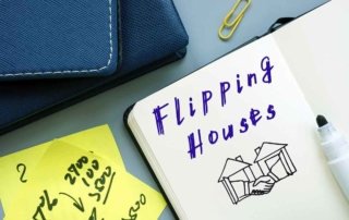 Flipping Houses phrase written on a page.